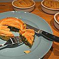 Tourtelettes végétariennes - épinards, lentilles beaufort
