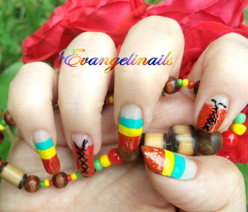 nail art rasta , ragga dancehall