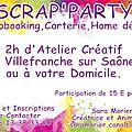 Scrap party le mardi 17 février 2015