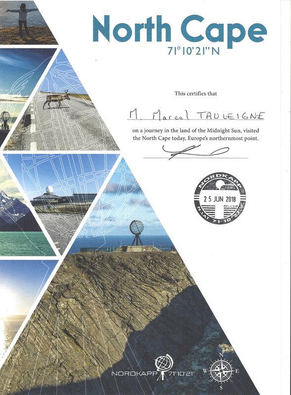 'Diplome ' Cap Nord