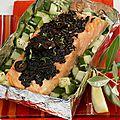 Pavés de saumon aux olives