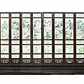 Imperial Chinese 'immortals' screen for sale at Bonhams in London