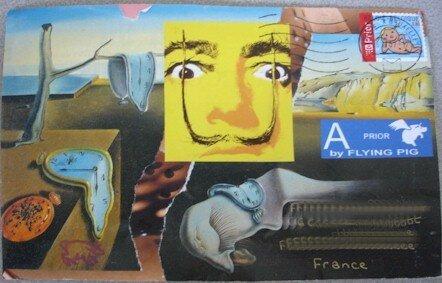 Piggy ... collage Dali oct 07