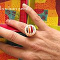 Bague Cabochon multicolore 3