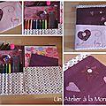 Cadeaux de noël faits maison : les sets coloriage.