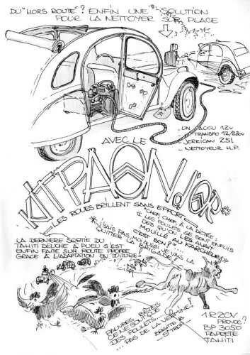 Citroen 2cv kit paon d 39 or 2cv citro n dessins - Dessin 4x4 humoristique ...