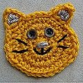 Magnet chat au crochet ;o)