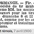 Samedi 07 Avril 1900 TIR : OUVERTURE DU STAND