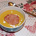 Veloute de lentilles corail - carottes - lait de coco