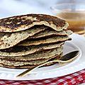 Banana pancakes et leur coulis de caramel au sirop d'érable