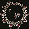 <b>Ruby</b> <b>and</b> <b>diamond</b> <b>parure</b>, 1820s <b>and</b> later