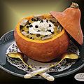 Purée de potimarron à la truffe, <b>foie</b> <b>gras</b> et chantilly à la truffe