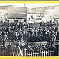 <b>Inauguration</b> d'une gare / Dedication ceremony of a railroad station (1865)