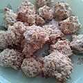 {biscuits} rochers à la noix de coco ou kokomaskronen