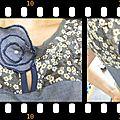 blouse goutte d'eau détails