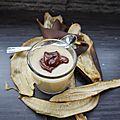 Creme banane amande et chocolat