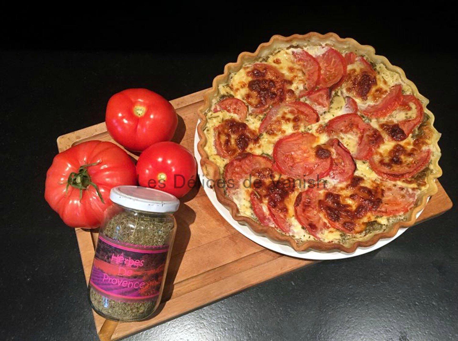 Quiche thon tomate à la crème d'avoine