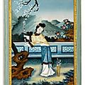A chinese export reverse-painted mirror picture, early 19th century