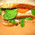 Sandwich ricotta au piment