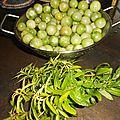 Confiture de tomates cerises vertes à la verveine citronnelle