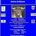 BÉZIERS - journées taurines - cartel du dimanche 23 octobre