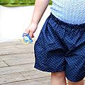 Shorts d'été - reprise de la couture