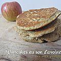 Pancakes au son d'avoine et aux pommes (recette sans oeufs)