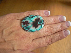 bague bordeau rose turquoise