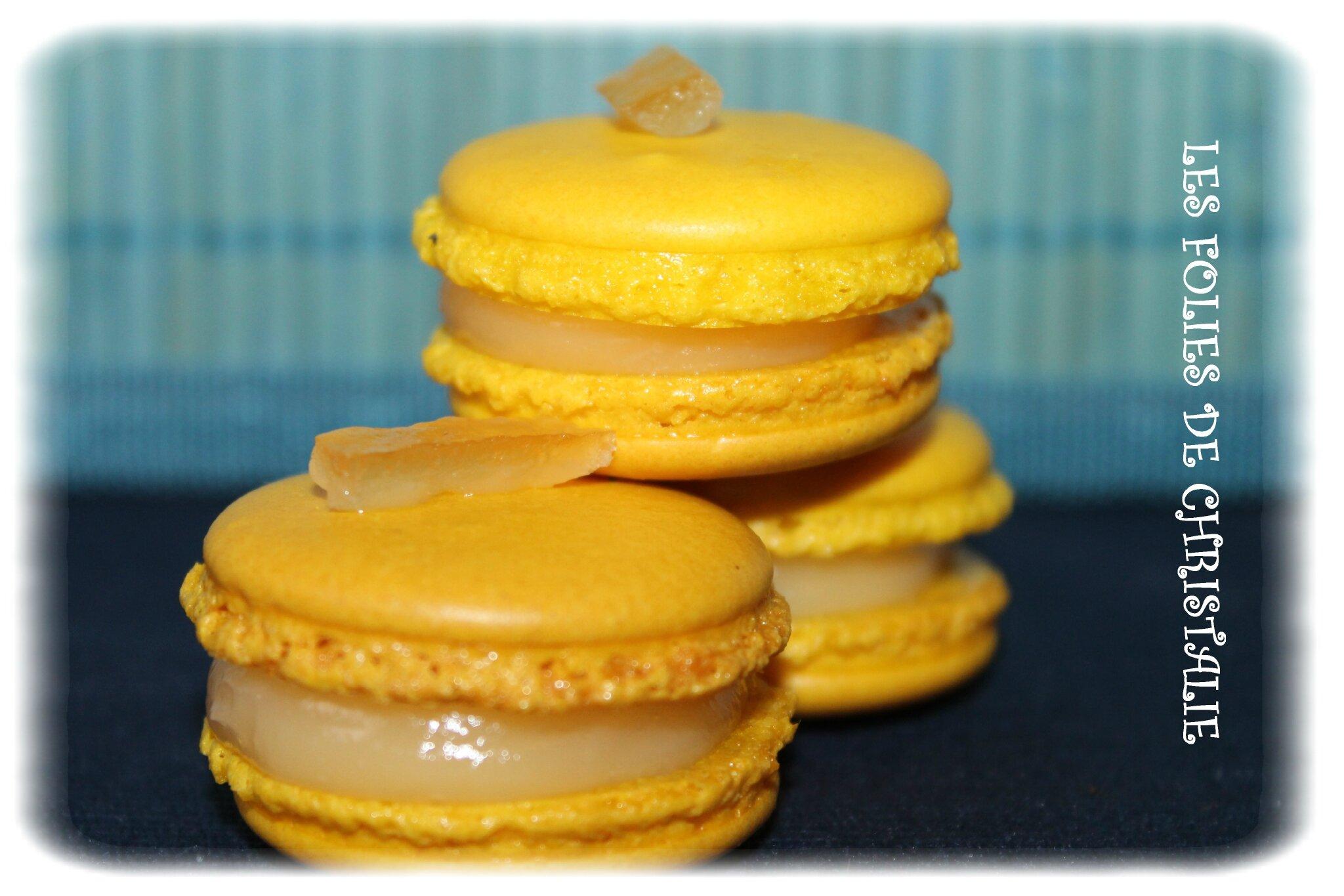 Macarons citron confit