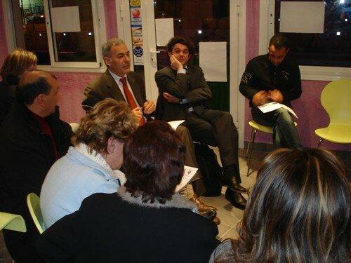Débat au bar Le Guitoun à Nice - 01/02/07