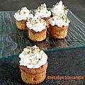 Cupcakes à la carotte et sirop d'érable