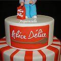Alice Délice gâteau détail logo