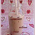 Smoothie nectarine fraise