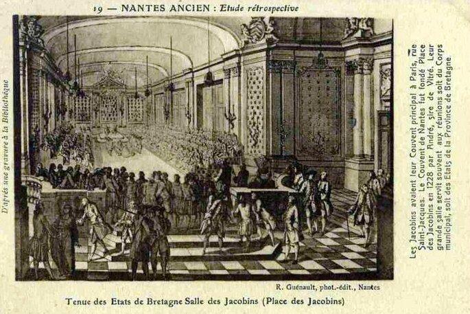 Nantes ancien - Place des Jacobins
