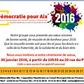 Samedi à 10h30 : cérémonie des vœux du groupe démocratie pour aix