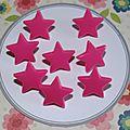 Bouton pression Kam : étoile rose