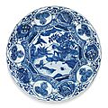 A blue and white 'kraak' dish, ming dynasty, wanli period (1573-1619)
