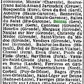 Beccas, près Villecomtal-sur-Arros, <b>1941</b>... Dissolution du Conseil Municipal.