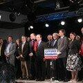 4 avril, La Valette : François Hollande, Jean-Pierre Chevenement et Jean-Michel Bayey avec les candidats aux législatives