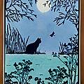 Une silhouette de chat