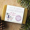 Savon lait de chèvre - <b>bergamote</b> - lavande des Savons de Joya: le trio gagnant