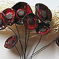 Bouquet de coquelicots en cérampique (9)