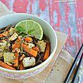 Soba épicé {au tofu ferme & gingembre}