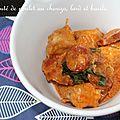 Sauté de poulet au chorizo, lard et basilic