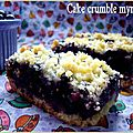 Cake crumble myrtille