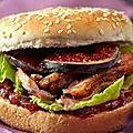Burger au canard et figues .