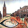 Vision décalée de la Rue Gabrielle Bouveur à Lambersart