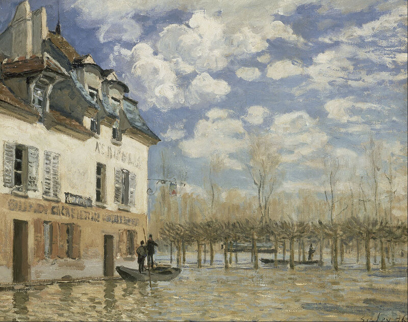 1876 - Flood at Port-Marly