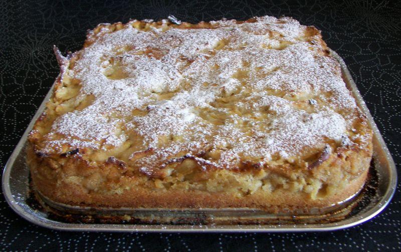 Gâteau aux pommes avec du