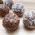 ...boulettes énergétiques ou energy balls... (hervé cuisine, sans lactose, sans gluten, sans sucre ajouté)